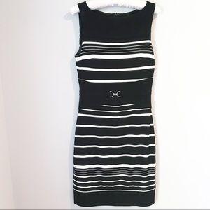 White House Black Market Striped Sheath Dress Sz 0